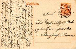 ALLEMAGNE. Carte Pré-timbrée Ayant Circulé En 1917. - Deutschland