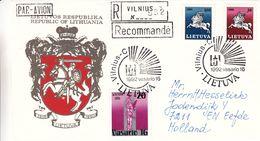 Lituanie - Lettre Recom De 1992 - Oblit Vilnius - - Lithuania