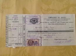 Dijon Assurances Compagnie Du Soleil 1930 Pelletier Et Dubat - France