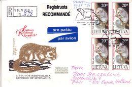 Lituanie - Lettre Recom De 1994 - Oblit Vilnius - Animaux - Glis Glis - Loir Gris - Oiseaux - échassiers - Lithuania