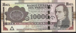 Paraguay P224d 10.000 OR 10000 Guaranies 2010 CDMB Serie F Signature 21 UNC. - Paraguay