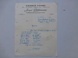 86 Usson-du-Poitou 1949, Joseph Cottineau, Fabrique D'huile, Moulin-à-Tan, Ref 609 ; PAP06 - Frankreich