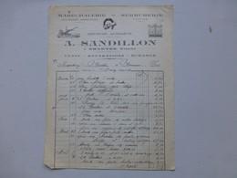 86 SMARVES 1938 SANDILLON, Maréchalerie, CYCLES, Facture Illustrée, Ref 610 ; PAP06 - France