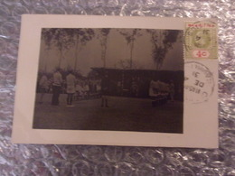 ILE MAURICE MAURITUS BELLE OBLITERATION STAMP TIMBRE  CARTE PHOTO  1931 FETE CEREMONIE 4 CENTIMES ROUGE - Mauritius