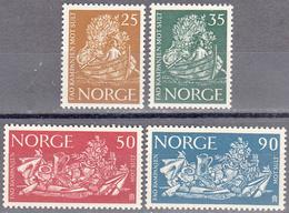 NORWAY      SCOTT NO. 433-36     MNH     YEAR  1963 - Nuovi