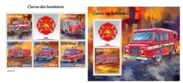 Guinea Bissau 2019 Fire Engines Fire Brigades MS+S/S GB190707 - Famous People