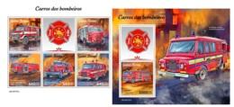 Guinea Bissau 2019 Fire Engines Fire Brigades MS+S/S GB190707 - Beroemde Personen