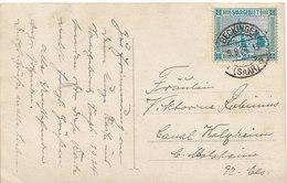 Sarre N° 89 Seul Sur Carte Postale De Beckingen Pour La France,1924,2 Scans - Lettres & Documents