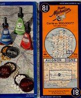 Carte Géographique MICHELIN - N° 081 AVIGNON - DIGNE N° 127-3628 - Cartes Routières