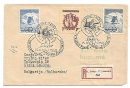Tsc168 / CSSR -  Ski-Pokal 1950 FDC Per Einschreiben Nach Bulgarien (Stara Zagora) - Briefe U. Dokumente