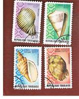 TOGO  - SG 1022.1026  -   1974  SEA SHELLS  (DIFFERENT PERFORATION)  - USED ° - Togo (1960-...)