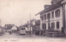 SAVIGNY       TRAMWAY DEVANT LA STATION - VD Vaud