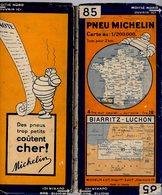 Carte Géographique MICHELIN - N° 085 BIARRITZ - LUCHON N° 3023-510 - Roadmaps