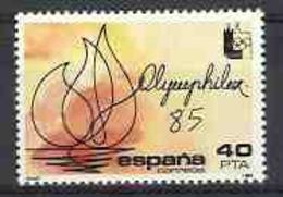 Spain 1985 - Olymphilex Ed 2781 (**) Mi 2666 - 1931-Heute: 2. Rep. - ... Juan Carlos I