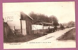 Cpa Acheres Rue De La Seine - édit. Berge Dessus - 2 Scans - Acheres