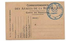 """CARTE POSTALE MILITAIRE  FRANCHISE ... Cachet  6e Tirailleurs Marocains""""   M4 - Marcophilie (Lettres)"""