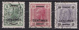 CRETE 1906-07 Austrian Office With Black Overprint Used Set Vl.14 / 16 - Kreta