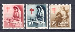 Spain 1953. Pro-tuberculosos Ed 1121-23 (**) Mi 838-839 845 - 1931-Today: 2nd Rep - ... Juan Carlos I