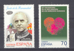 Spain 1998 - Derechos Humanos Ed 3606-07 (**) Mi 3441-3442 - 1931-Hoy: 2ª República - ... Juan Carlos I