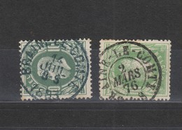 COB 30 Oblitération Simple Et Double Cercle BRAINE-LE-COMTE Superbes - 1869-1883 Léopold II