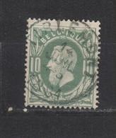 COB 30 Oblitération Centrale Simple Cercle TIRLEMONT - 1869-1883 Léopold II