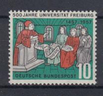 Bund 256 II Mit Plattenfehler 500 Jahre Universität Freiburg 10 Pf Postfrisch - BRD