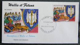 WALLIS ET FUTUNA - 1991 - FDC 415 - ASSOMPTION A WALLIS - Covers & Documents