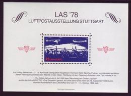 Vignette Luftpostausstellung Stuttgart LAS 1978 25 Jahre EAPC - BRD