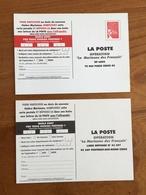 """PAP 2 Cartes-réponse - Opération """"La Marianne Des Français"""" - 2003 - Neuf ** - Prêts-à-poster: TSC Et Repiquages Semi-officiels"""
