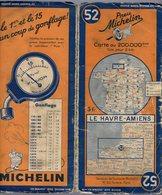 Carte Géographique MICHELIN - N° 052 LE HAVRE - AMIENS N° 1111-3632 - Cartes Routières
