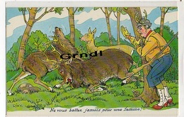 CHASSE - Cartes Humoristiques . - Hunting