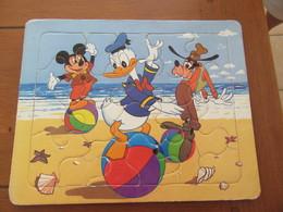 LOT De 3 PUZZLES Représentant : DONALD, LES 7 NAINS Et BLANCHE NEIGE, ROUXY Le Chien - Andere Verzamelingen