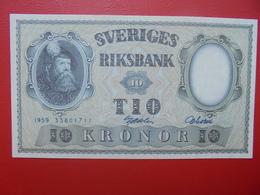 SUEDE 10 KRONOR 1959 PEU CIRCULER (B.6) - Suède