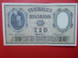 SUEDE 10 KRONOR 1962 PEU CIRCULER (B.6) - Suède