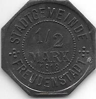*notgeld Freudenstadt 1/2 Mark  1918 Zn  4452.8 / F 138.8 - Altri