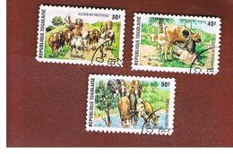 TOGO  - SG 1042.1044  -   1974  PASTORAL ECONOMY  (DIFFERENT PERFORATION)  - USED ° - Togo (1960-...)