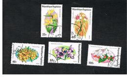TOGO  - SG 1052.1056  -   1975  FLOWERS - USED ° - Togo (1960-...)