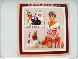 SALE! Guinea-Bissau M/s 2001 Lady Diana Pope Hohn Paul II - Guinea-Bissau