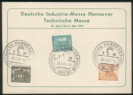 Westberlin/BRD Gedenkblatt Hannovermesse Mit Berlin Mi.-Nr.42-44 Mit SST 29.4.1951, Pracht - Storia Postale