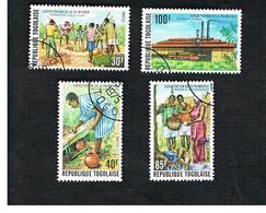 TOGO  - SG 1082.1085  -   1975 PALM-OIL PRODUCTION    (COMPLET SET OF 4) - USED ° - Togo (1960-...)