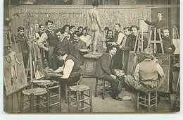 PARIS - Ecole Des Beaux-Arts - Atelier De Peintre - Nu Masculin - Enseignement, Ecoles Et Universités
