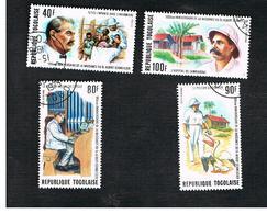 TOGO  - SG 1096.1099  -   1975 DR. ALBERT  SCHWEITZER CENTENARY    (COMPLET SET OF 4) - USED ° - Togo (1960-...)