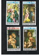 TOGO  - SG 1111.1115  -   1975  CHRISTMAS: PAINTINGS - USED ° - Togo (1960-...)