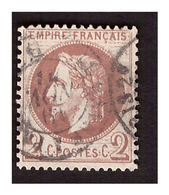 Timbre N° 26 B Obl. - 1863-1870 Napoleone III Con Gli Allori