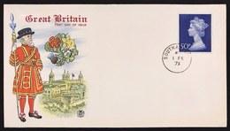 Great Britain 1973 First Day Definitiva Cod.bu.265 - 1952-.... (Elisabetta II)
