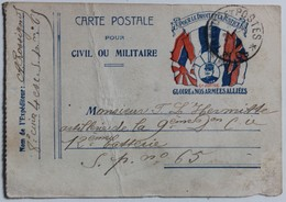 Carte Postale Joffre Gloire à Nos Armées Rossignol 8 Cuirassé L'Hermitte Artillerie Secteur Postal 65 WW1 Guerre 14-18 - Guerre 1914-18