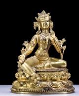 China Ancient Tibet Buddhism Copper Gilt Buddha Statue - Oriental Art