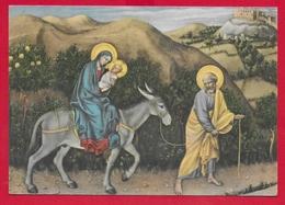 CARTOLINA VG ITALIA - GENTILE DA FABRIANO - La Fuga In Egitto - Galleria Degli Uffizi - FIRENZE - 10 X 15 - 1953 - Pittura & Quadri