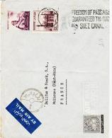 Egypte, En 1956, Du Caire , Tarif Aérien , Flamme Sur Le Canal De Suez TB Et RR - Lettres & Documents
