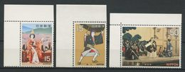 JAPON 1970  N° 983/985 ** Neuf  MNH Superbe C 2,50 € Théatre Classique Fille Temple Dojo Scène Sukeroku Kanjiinch - 1926-89 Kaiser Hirohito (Showa Era)